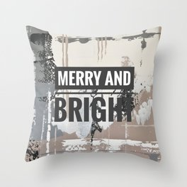 Snowfall - merry and bright Throw Pillow