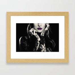 Vintage wild girl Framed Art Print
