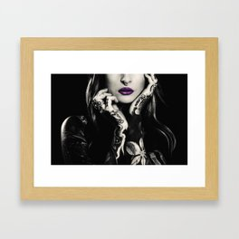 Vintage wild girl Framed Art Print