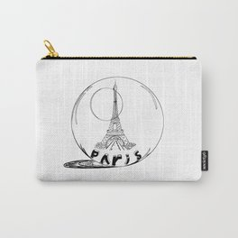 paris in a glass ball . Black-and-white . Art Carry-All Pouch