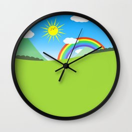 Happy Colorful Planet 03 Wall Clock