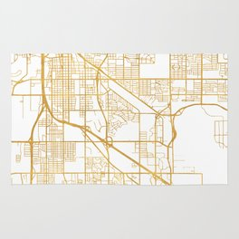 TUCSON ARIZONA CITY STREET MAP ART Rug