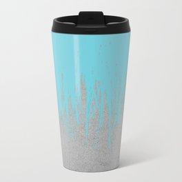 Concrete Fringe Aqua Metal Travel Mug
