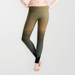 Vancouver Two Worlds Collide Landscape Painting Leggings