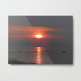 Ste-Anne-Des-Monts Sunset on the Sea Metal Print