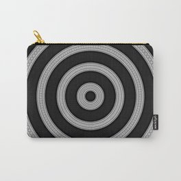 Modern Black White Circle Mandala Carry-All Pouch