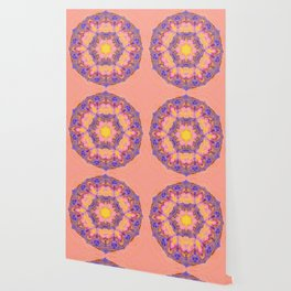 Delicate kaleidoscope in the colors of summer Wallpaper