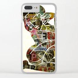 Graffiti Girl Modern Abstract Fine Art Nude Painting Pop ART Clear iPhone Case