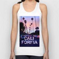 "california Tank Tops featuring CaliforniA by ""CVogiatzi."