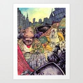 One Man's Trash Art Print