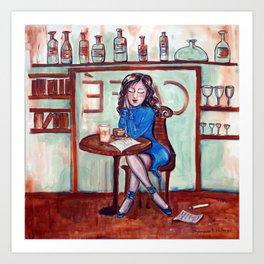 Cafe Quotidien Art Print