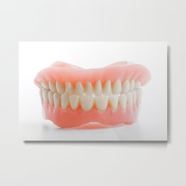 Medical denture smile jaws teeth Metal Print