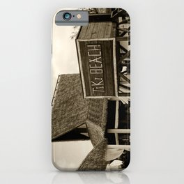 Travel Photography : Tiki Beach in Cayman Islands iPhone Case