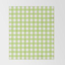 Green gingham pattern Throw Blanket