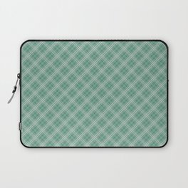 Christmas Green Holly and Ivy Tartan Check Plaid Laptop Sleeve
