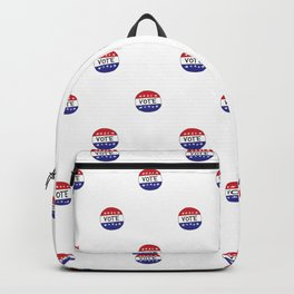 Vote USA Red White & Blue Pin Pattern Backpack