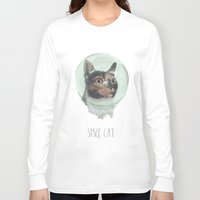 space cat Long Sleeve T-shirts featuring Space Cat by MaryAube