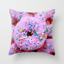 Delicious Donuts Throw Pillow
