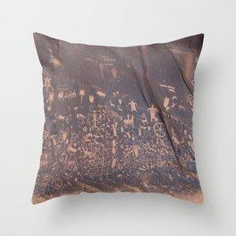 Newspaper Rock Throw Pillow