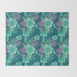 Succulent Love I Throw Blanket