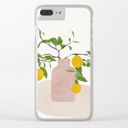Lemon Branches Clear iPhone Case