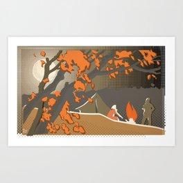 Russian Campfire Art Print
