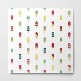 Ice cream seamless pattern Metal Print