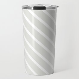 Ice Diagonal Stripes Travel Mug