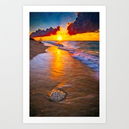 Puka Beach Boracay Philippines Art Print