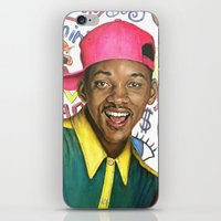 fresh prince iPhone & iPod Skins featuring Fresh Prince of Bel Air - Will Smith by Heather Buchanan