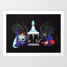 We only play to the night.  Art Print