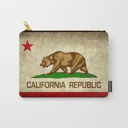 California Republic Retro Flag Carry-All Pouch