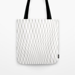 Fish net / black on white distorted geometry Tote Bag