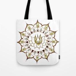 Lotus Henna Mandala Tote Bag