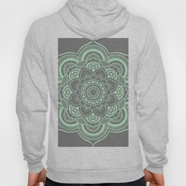 Mandala Flower Gray & Mint Hoody