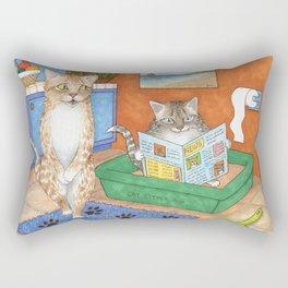 Cat in litter Rectangular Pillow