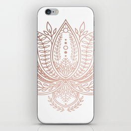 Botanical Lotus - Rose Gold iPhone Skin