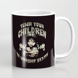 Teach Your Children to Worship Skatin Roller Derby Art - Pink Coffee Mug
