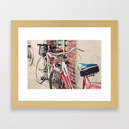 Bicycles Framed Art Print