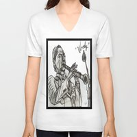 woody V-neck T-shirts featuring WOODY by TATTZ4CARZ