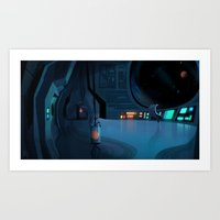 spaceship Art Prints featuring Spaceship by Matt Vince