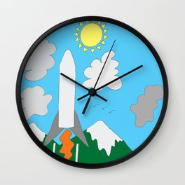 The Space Launch Up And Away Wall Clock
