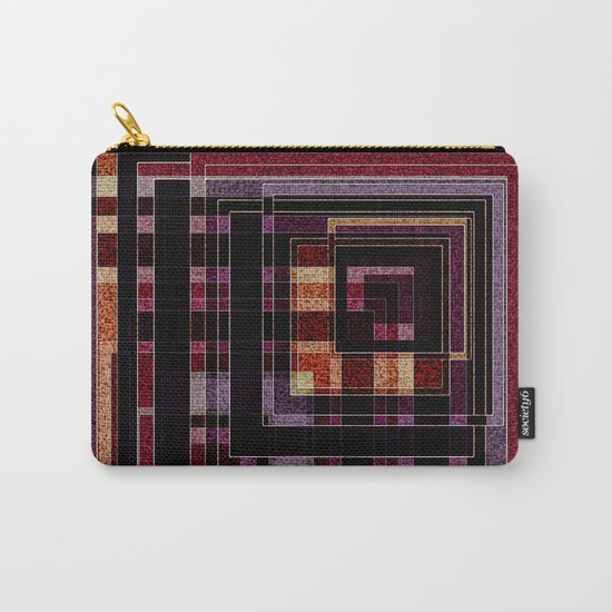 "Abstract pattern ."" Squares "".  Carry-All Pouch"
