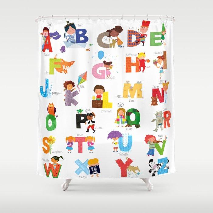 ABC Shower Curtain By Nathaliebeauvois
