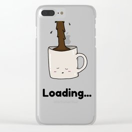 Morning Cup of Coffee Clear iPhone Case