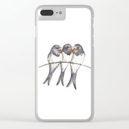 Three young swallows Clear iPhone Case