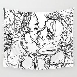 Boys kiss too Wall Tapestry