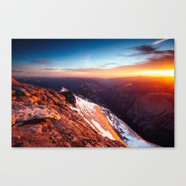 Clouds Rest Sunset Canvas Print