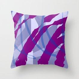 Purple Streaks & Blocks Abstract Art Throw Pillow