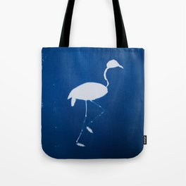 Cyano-flamingo Tote Bag